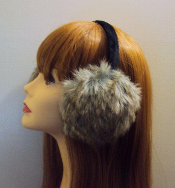Puffy Ear Muffs Earwarmer Faux Fur Earmuff Women Hair Accessories Teen to Adult Winter Accessories Holiday Fashion Gift Ideas Under 50 by GrahamsBazaar, $19.99