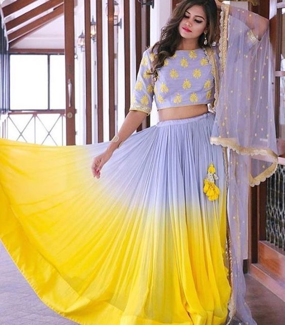 Love this lilac yellow ombre lehenga #Frugal2Fab