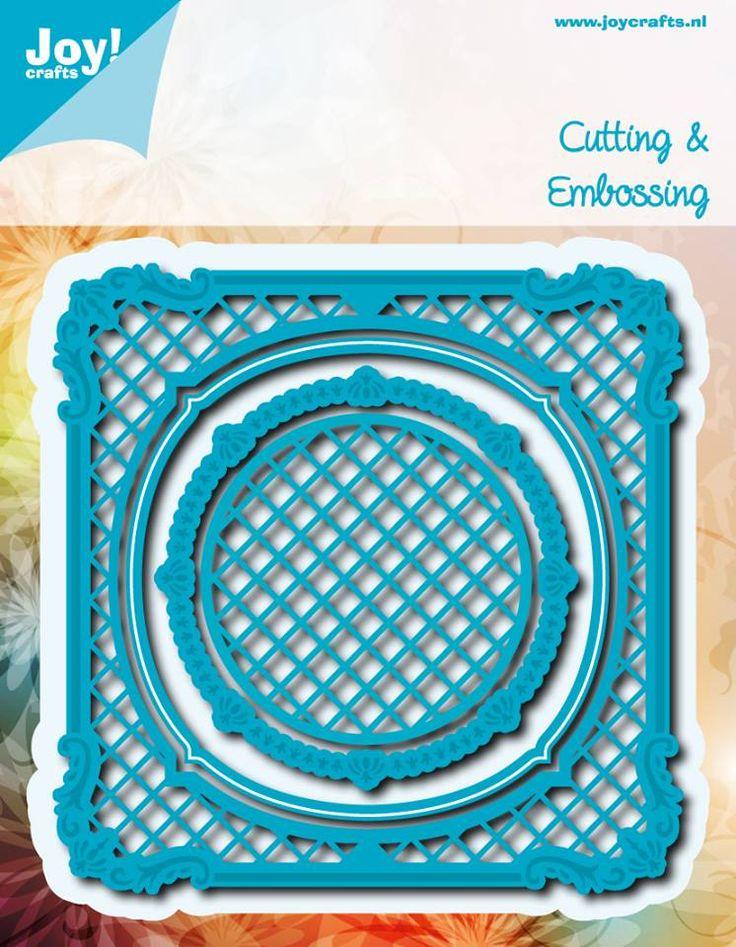 6002/0533 Noor! Design Blauw Vierkant met cirkel