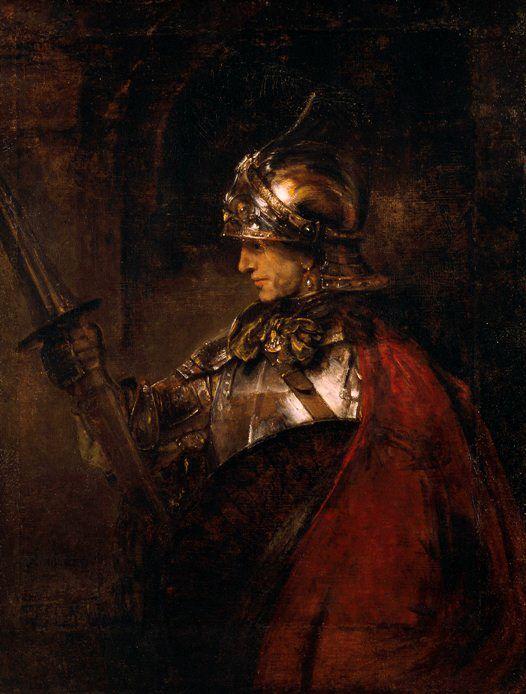 Rembrandt van Rijn (b,1606)- Man in Armour