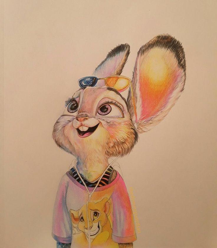 Джуди хопс рисунки цветными карандашами