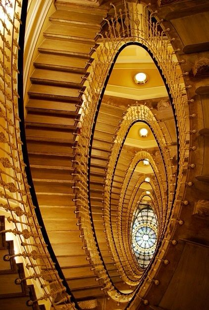 Staircase in the Bristol Palace Hotel