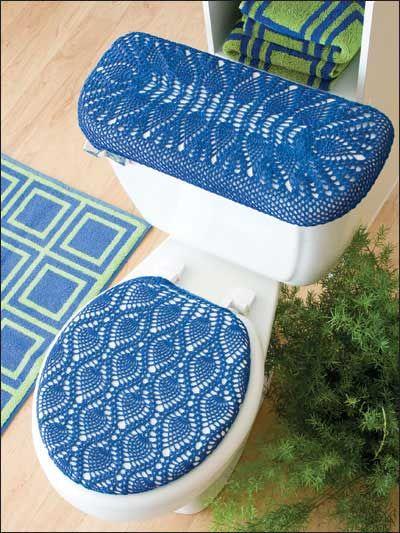 Tapetes de banheiro crochê