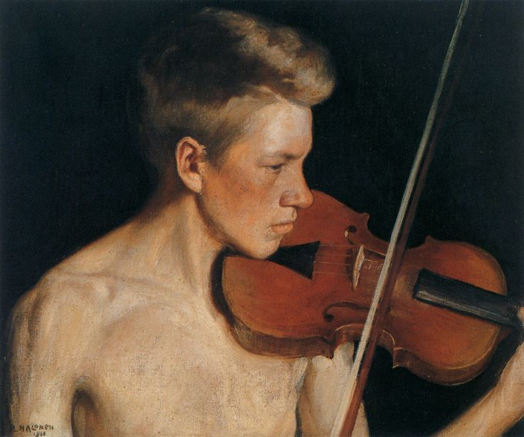 "Pekka Halonen 1900 ""The Violinist"""