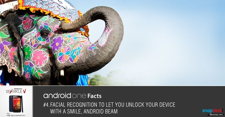 Android One Fact #4. Facial recognition to let you unlock your device with a smile :-) Get it here: http://bit.ly/-SparkleV