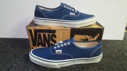 b7273765f5 Details about Vintage Vans AUTHENTIC NAVY made USA Mens Size 10.5 ...