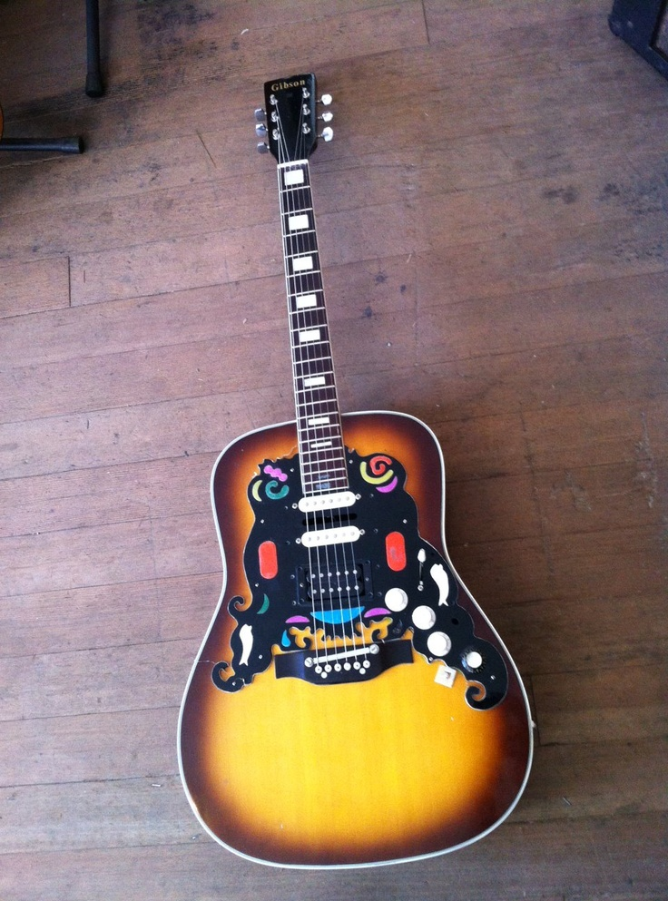 awesome gibson 39 ish electric acoustic parts jumbo from old style guitars in silverlake la ca. Black Bedroom Furniture Sets. Home Design Ideas