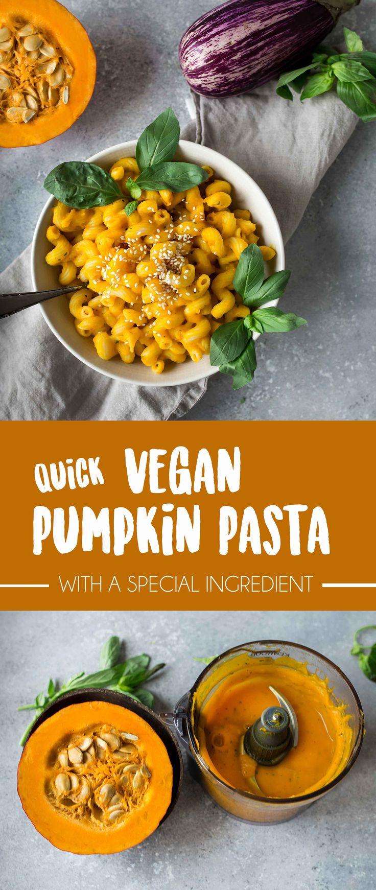 Quick and easy Vegan Pumpkin Pasta