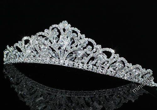 Tiara-Hochzeit-Schmetterling-Diadem-Kristall-Brautschmuck-T1461