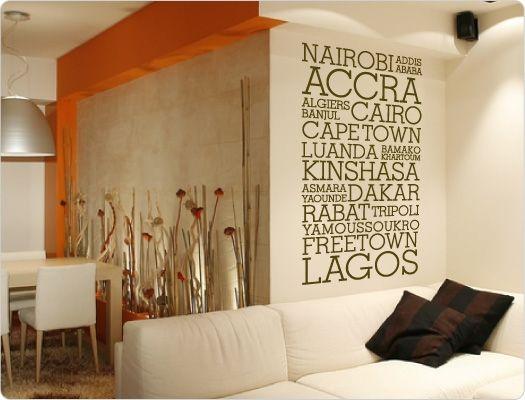 Wandtattoo Städtenamen Afrika (Nr.3)