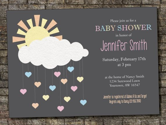 113 best Baby Cloud Shower images on Pinterest Baby showers - fresh birthday invitation baby girl