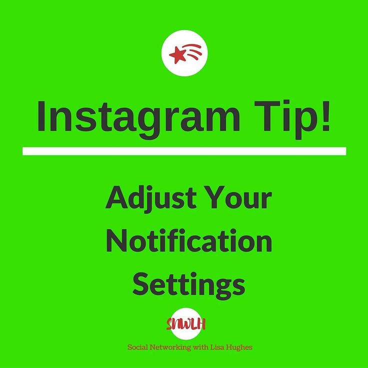 Instagram Tip: Adjust Your Notification Settings  Notifications are great but they can quickly become overwhelming which is why Instagram lets you tweak what specific notifications you can receive. In order to adjust that to your liking go to your profile and tap the Settings icon then go to the Push Notification Settings tab. From there you will be able adjust notifications for likes comments follow requests etc.  Want to learn more about building your business using Instagram & Social…