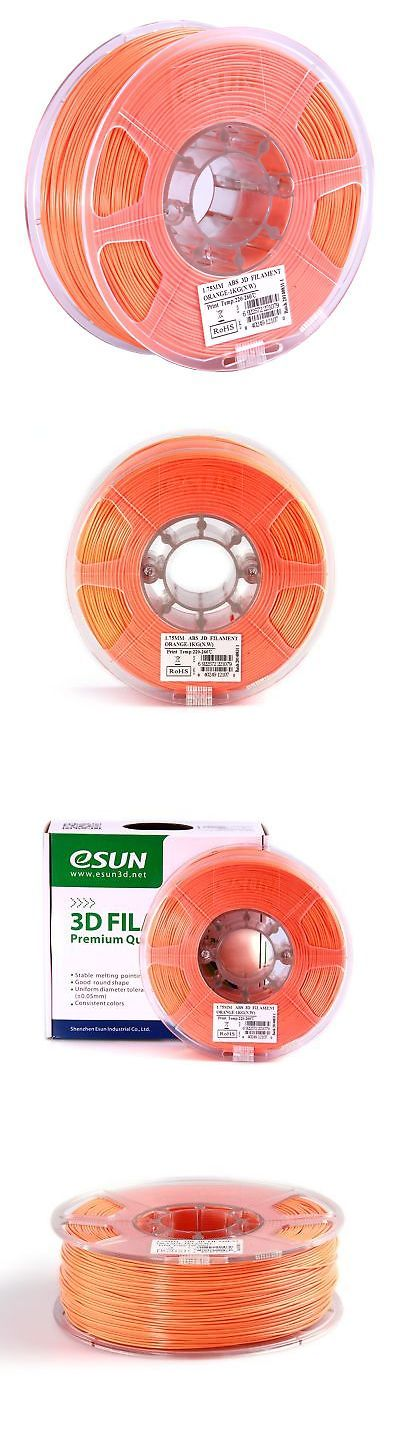Other Crafts 75576: Esun 1.75Mm Orange Abs+ 3D Printer Filament 1Kg Spool (2.2Lbs) Orange -> BUY IT NOW ONLY: $32.65 on eBay!