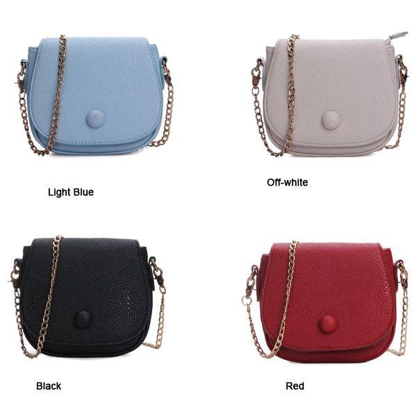 nova coreano saco de mulheres da moda cadeia de couro pu saco corpo cruz - R$53.14