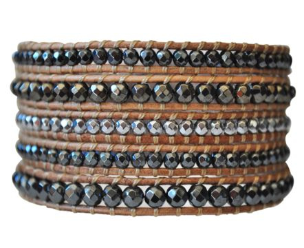 Looks sooo expensive! Pyrite 5 Wrap Leather Bracelet  #pyrite #leather #armcandy #bracelets #wrapbracelet #jewelry #bracelet