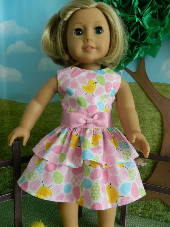 """18 inch doll clothes, American Girl doll clothes Easter Dress for 18"""" American Girl doll outfit on Etsy, $16.99"""