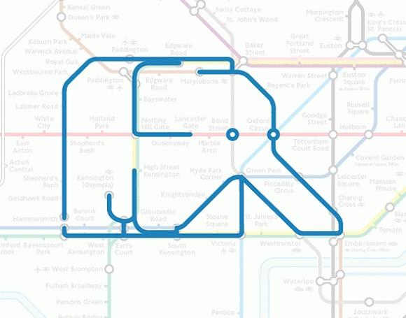 地下鉄の路線図をいじるとこうなる。