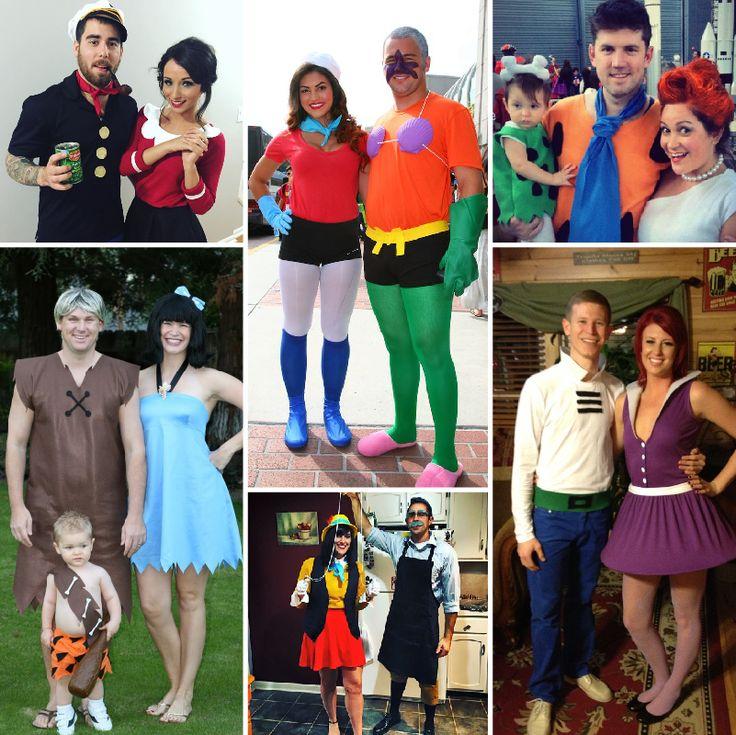 Disfraces de Halloween para parejas — Personajes de caricaturas  #MásQ1Boda #halloween #disfracesparaparejas