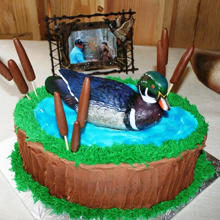 Ducks Unlimited Mallard cake on a pond  Because I like cakes  Duck hunting cakes Duck cake