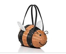 NWT Kate Spade New York DOWN THE RABBIT HOLE WICKER BEE Handbag