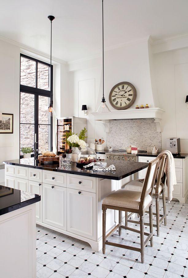 Inspiration classique dans une cuisine de 1854 | Décormag