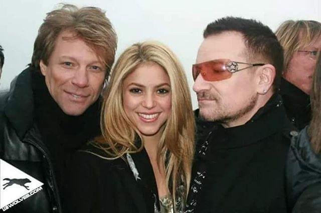 "@u2.wolves   Instagram - "" #jonbonjovi , #Shakira & #Bono !"" #jbj #captainkidd #bonjovi #u2 #rock #rockmusic #pop #popmusic"