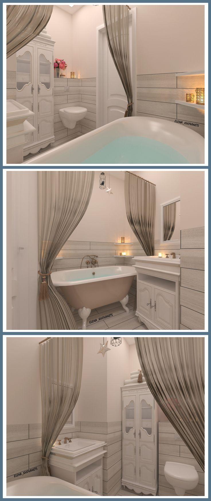 #Ванная комната для девушки. Программа #3DMax #VRay