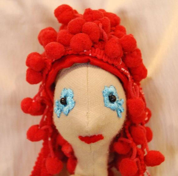 Red hair for the doll by Rongylady on Etsy