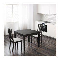 IKEA - BJURSTA, Uitschuifbare tafel, Incl. 2 uittrekbare bladen.Eettafel met 2 uittrekbladen; biedt plaats aan 4 personen en je kan de grootte van de tafel naar behoefte aanpassen.De uittrekbare tafelbladen bieden praktische werkruimte en zijn goed toegankelijk onder het tafelblad opgeborgen.Het blank gelakte oppervlak is makkelijk af te nemen.