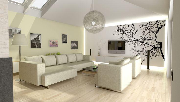návrh obývacího pokoje v rodinném domě