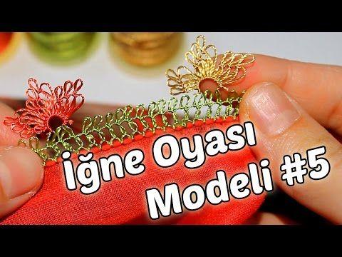 İğne Oyası Yapılışı (Yazma Modeli) #5 HD Kalite - YouTube