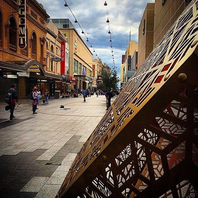 Shopping & Snapping down Rundle. #adelaide #city #captureadelaide #adlfringe #art #streetart #blueskies #cloudporn #creative #fringe #radelaide #instagramadelaide #instagood #glamadelaide #thecityadelaide #streetsofadelaide #snapaholic #southaustralia