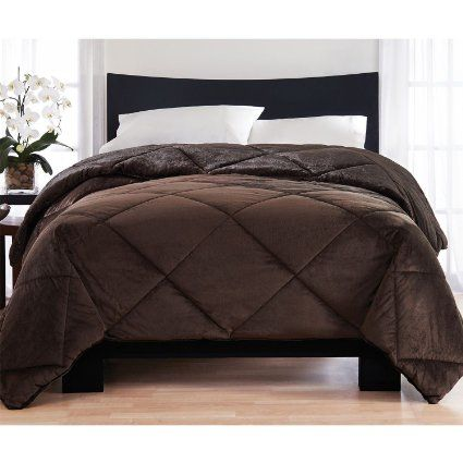 Amazon.com - London Fog Reversible Mink Comforter, Brown ...