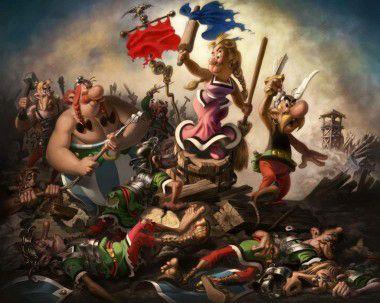 Asterix OBELIX y Delacroix