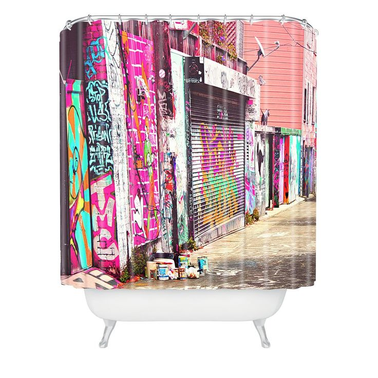Shannon Clark Paint It Pink Shower Curtain | DENY Designs Home Accessories