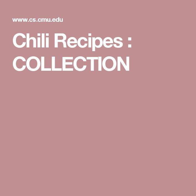 Chili Recipes : COLLECTION