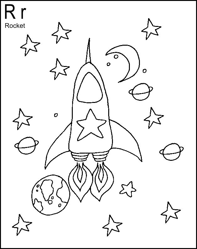 letter r is for rocket coloring page free printable 23 best images about letter r preschool activities on 391