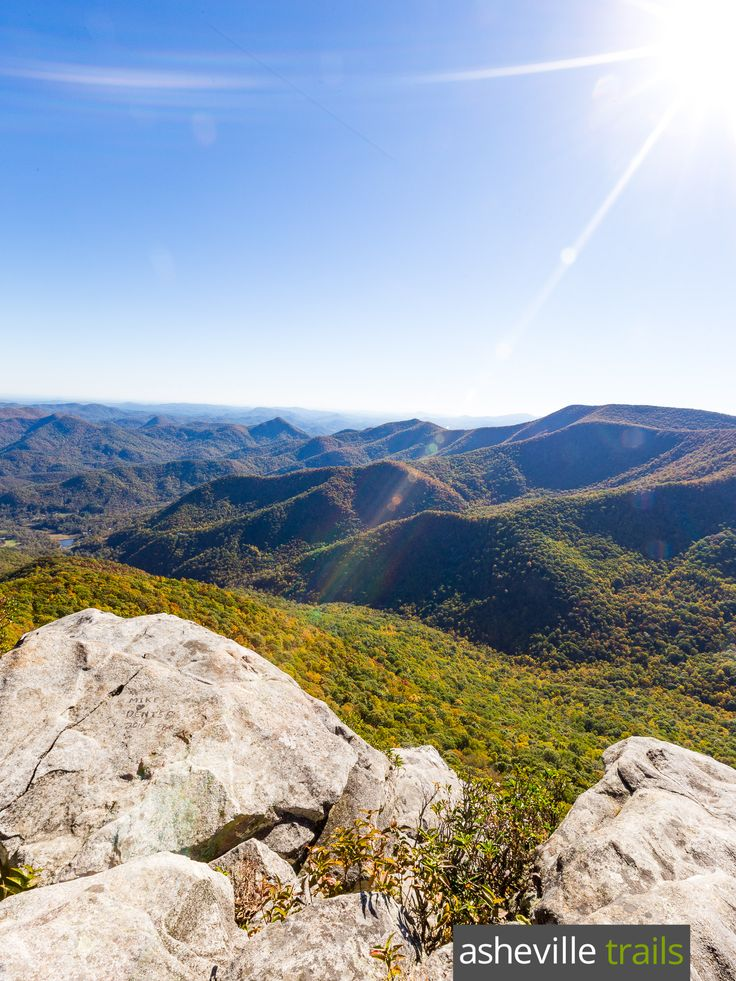 Hike to incredible summit views at Pickens Nose Mountain in North Carolina, south of Franklin