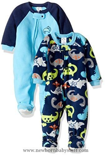 Baby Boy Clothes Gerber Baby Boy 2 Pack Blanket Sleeper, dino, 6-9 Months