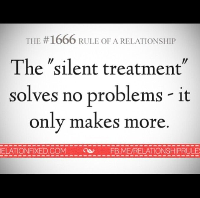 quote silent treatment quote - Google Search