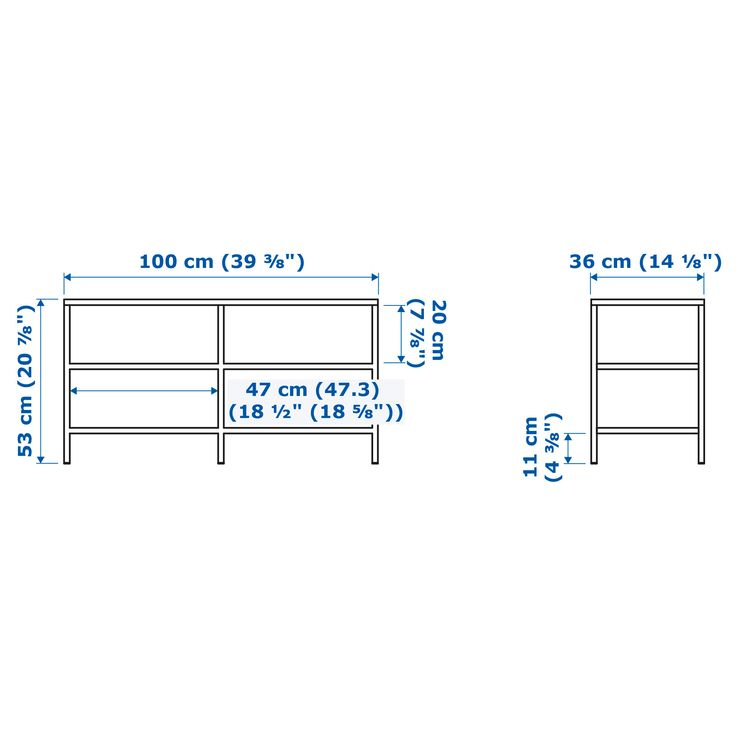 IKEA - VITTSJÖ TV bench white, glass