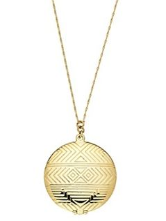 House of Harlow Medallion Locket Necklace I really really want this .....