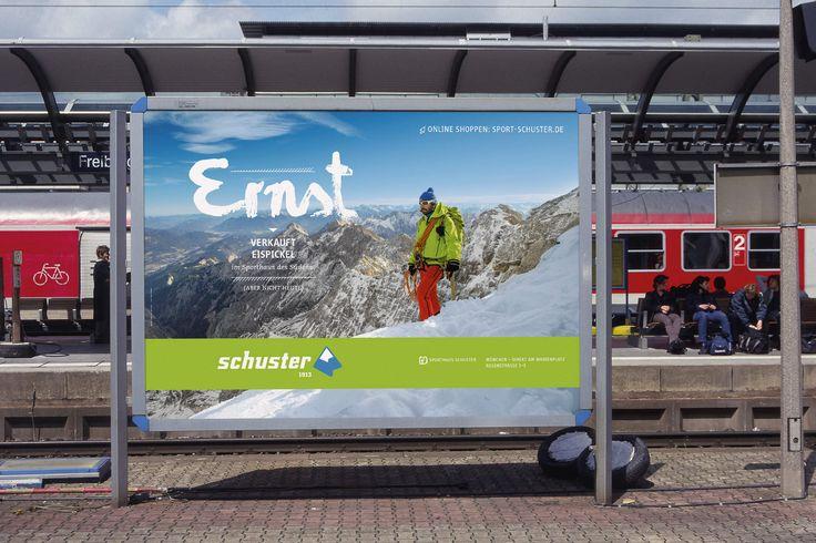 """SPORTHAUS SCHUSTER / Imagekampagne """"Mitarbeiter"""" / #Kampagne #Outdoor / by Zeichen & Wunder, München"""