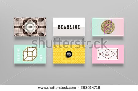 Set of Trendy Posters with Gold Glitter Texture Background. Modern Hipster Style for Invitation, Business Contemporary Design. Geometric Labels for Logo Design. Hand Drawn Elements for Placards, Flyer