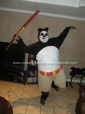 coolest homemade kung fu panda costume - Good Halloween Costumes For Big Guys