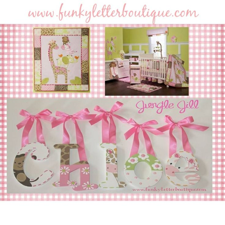 114 best images about girls hand painted wooden nursery for Funky nursery ideas