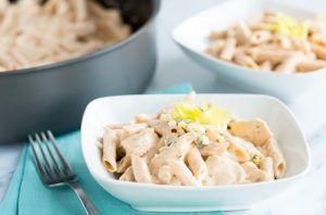 Skinny Mom One-Pan Buffalo Chicken Pasta recipe