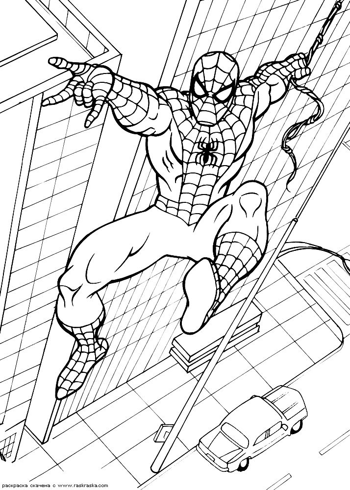 SpiderMan coloring pages 5