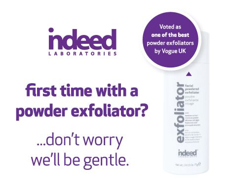NEW on the #beautyblog! Refresh skin this fall with #IndeedLabs powdered exfoliator: http://ow.ly/BWakM #makeadatetoexfoliate