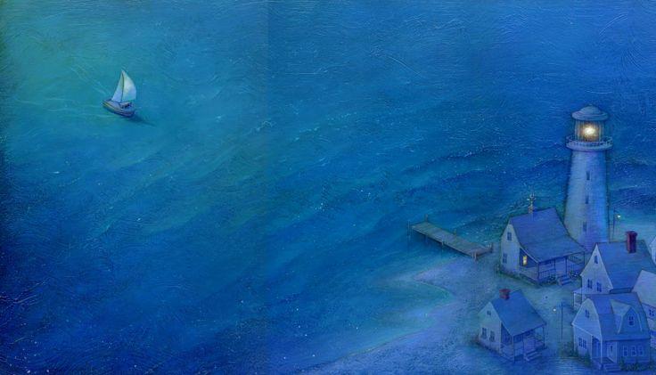 """Linda S. Wingerter illustration for """"Luna's Sea""""."""